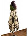 Rochie de vara vaporoasa, verde cu imprimeu retro