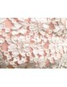 Rochie lunga din dantela alba, de ocazie, cu captuseala roz