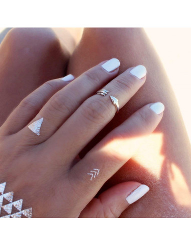 Inel etnic argintiu, sageata argintie ajustabila