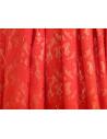 Rochita scurta din dantela rosie, rochie eleganta cu fundita aurie la spate