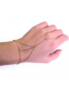 Bratara arabeasca cu inel si 3 lanturi subtiri