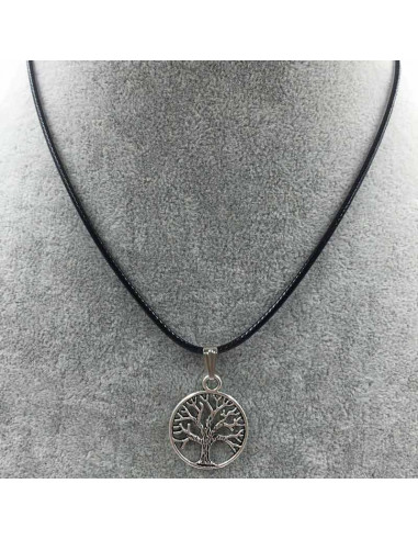 Snur negru cu medalion Copacul vietii