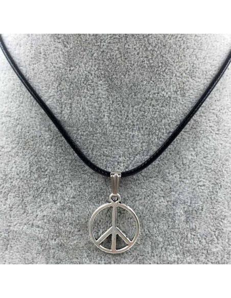 Snur negru cu medalion Semnul pacii
