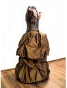Rochie de ocazie cu corset din piele, rochie cu capete de scheleti si fusta voluminoasa