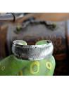 Bratara vintage metalica argintie lata, model cu solzi