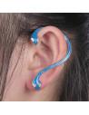 Cercel ear cuff fosforescent, model sarpe cu doua capete