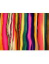 Fusta lunga din bumbac satinat, model multicolor, cu peplum