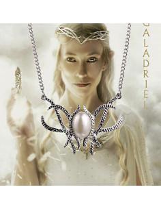 Colier argintiu cu medalion cu perla ovala, Galadriel's Crown