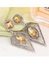 Cercei triunghiulari, model elegant, vintage, argintiu patinat