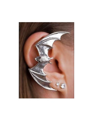 Cercel tip ear cuff, model cu liliac...