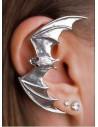 Cercel tip ear cuff, model cu liliac cu aripi deschise, pe toata urechea, prindere pe ureche