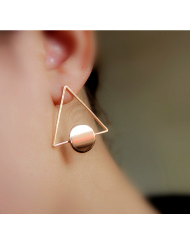 Cercei minimal triunghiulari cu disc lucios