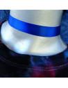Colier choker albastru din satin lucios