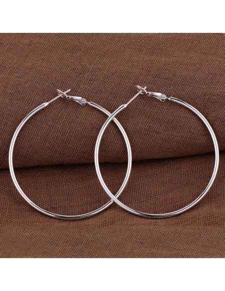 Cercei placati cu argint, cercuri foarte mari Hula Hoops
