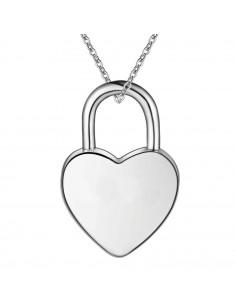 Pandantiv placat cu argint, lacat in forma de inimioara, se deschide