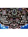 Costum de baie doua piese boho cu imprimeu albastru si flori
