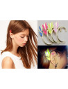 Cercel tip ear cuff, model elf wings colorati, prindere pe ureche