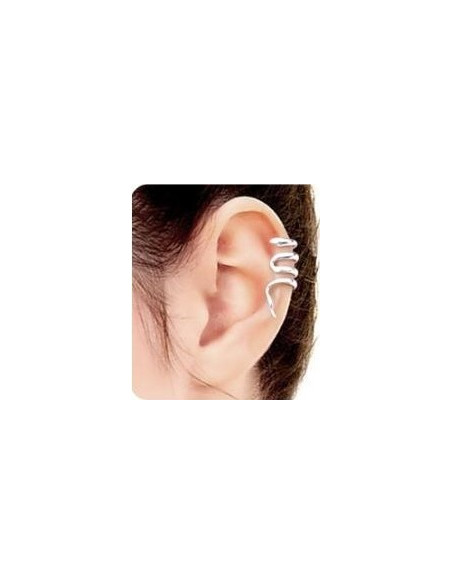 Cercel ear cuff, model spirala micuta in jurul urechii, prindere pe ureche