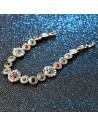 Bratara vintage cu discuri si cristale colorate, medalioane mari cu cristale albe