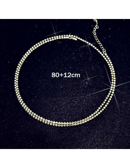 Lant luxury pentru talie, cu cristale patrate