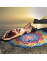 Cearceaf de plaja indian mandala multicolor cu floare de lotus