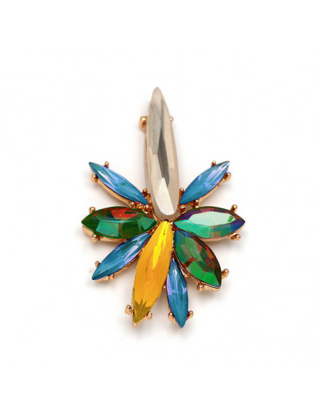 Inel luxury Pixie Star, stea alungita cu cristale stralucitoare