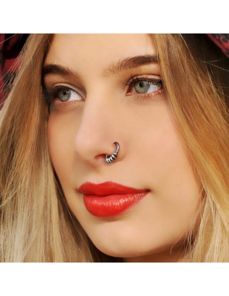 Set cercei, inel si ear cuffs, model boho chic argintiu patinat