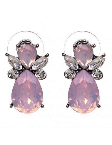 Cercei luxury scurti cu cristale colorate alugite LIttle Bee