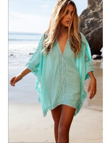 Rochie de plaja cu dantela filigranata pe margini, subtire