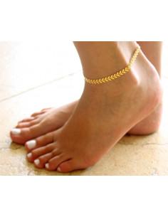 Bratara de glezna eleganta, Gold Fishbone