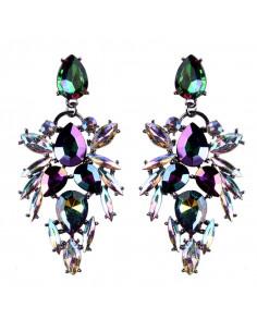 Cercei luxury Lantern Butterfly, cu cristale mari stralucitoare