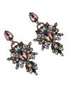 Cercei statement, cruci stilizate cu cristale de jur imprejur