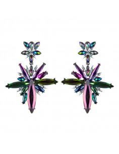 Cercei luxury masivi, Antares Rising, stele din cristale lungi, ascutite