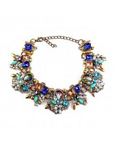 Bratara luxury masiva, cu cristale colorate, opalescente