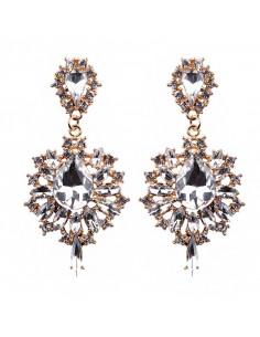 Cercei luxury Mirror Mirror, cu cristale stralucitoare multicolore