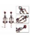 Cercei eleganti vintage Versailles Chandelier, cu perle si cristale