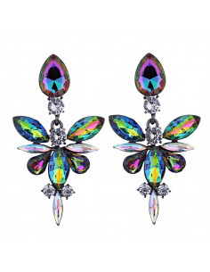 Cercei statement Jeweled Dragonfly, cristale ascutite stralucitoare