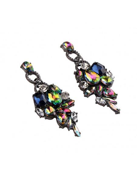 Cercei luxury Summer Grapes, ciorchini de cristale colorate