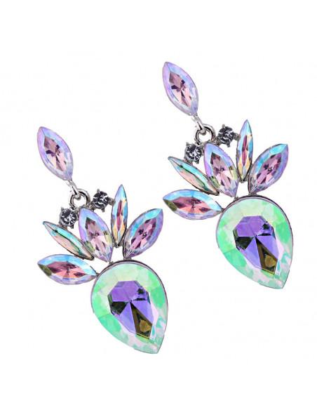 Cercei luxury Pinapples, cu cristale mari stralucitoare