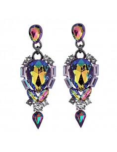 Cercei luxury Bejeweled Turtle, cu cristale mari stralucitoare