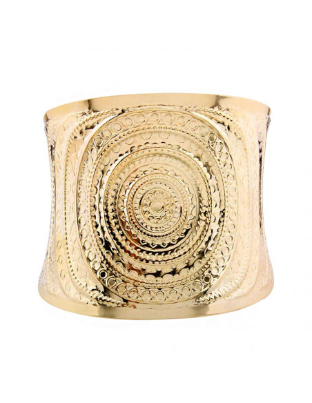 Bratara lata romana cu cercuri concentrice si model gravat