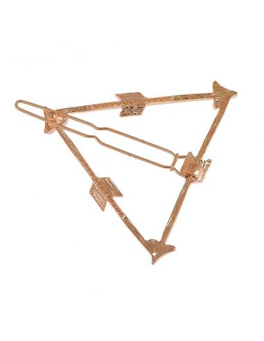 Agrafa pentru par model etnic, triunghi cu trei sageti