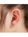 Cercel ear cuff micut cu tepi si cristale, model punk