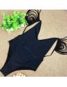 Costum de baie intreg elegant, cu multe snururi pe umeri