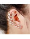 Cercel ear cuff statement, Elf Wings, cu cristale albe ascutite