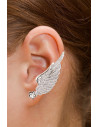 Set cercel ear cuff si cercel micut, aripa lunga cu cristale in forma de stea