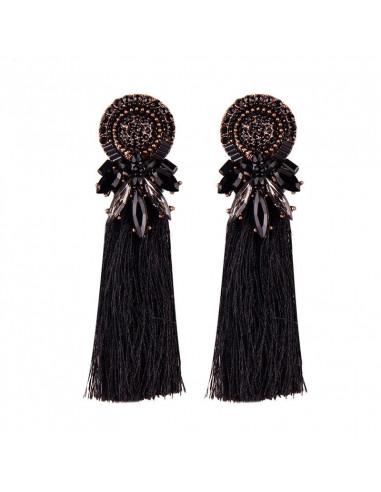 Cercei luxury Cassandra, rotunzi, cristale colorate si canafi lungi