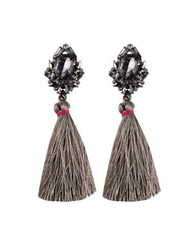 Cercei statement Portofino, cristale fatetate si canafi lungi