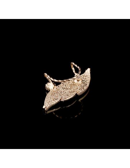 Ear cuff luxury, frunza aurie cu cristale albe rotunde