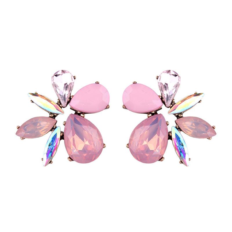 Cercei eleganti Crazy Butterfly, cu cristale fatetate colorate